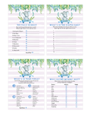 Blue Elephant Safari Baby Shower Game Pack