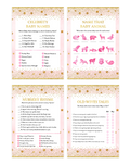 Pink and Gold Twinkle Twinkle Little Stars Baby Shower Game Pack
