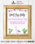 Purple Llama Don't Say Baby Necklace Printable Sign