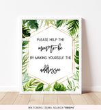 Tropical Gold Envelope Station Printable Sign