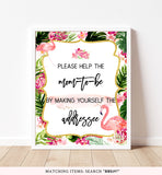 Tropical Flamingo Envelope Station Printable Sign