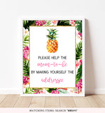 Pineapple Envelope Station Printable Sign