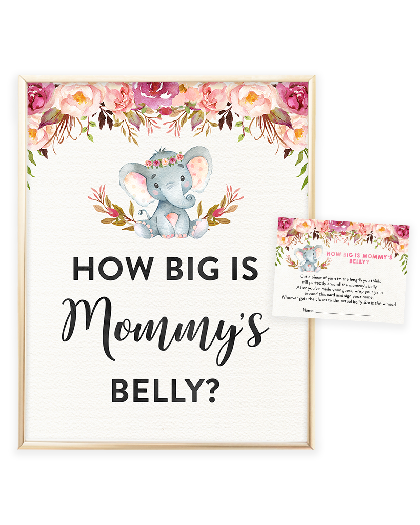 It is a photo of Trust How Big is Mommy's Belly Free Printable