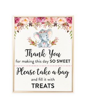 Elephant Candy Buffet Sign Printable