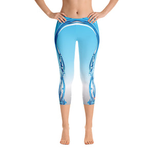 Light Blue Waterfall Limited Edition Capris