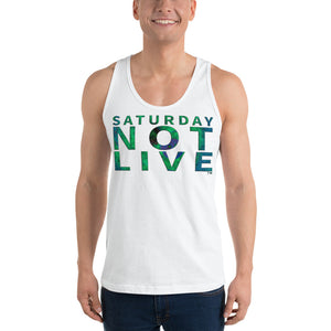 Saturday Not Live Reef Green Logo Unisex Tank (Includes Back Printing)