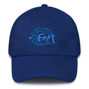 Kick Up Ur Feet™ Limited Edition Blue-Tone Cotton Cap