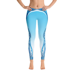 Light Blue Waterfall Limited Edition Leggings