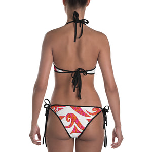 Kick Up Ur Feet™ Reversible Limited Edition Bikini (White or Black Straps)