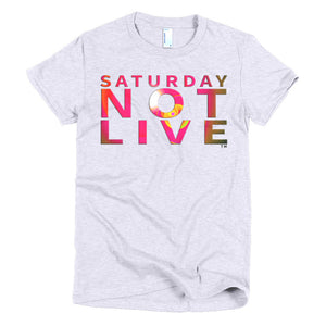 Saturday Not Live Sunburst Spotlight Ladies T-shirt (Includes Back Printing)