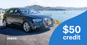 Sell your car on Trade Me, and get $50 of Mevo Credit!