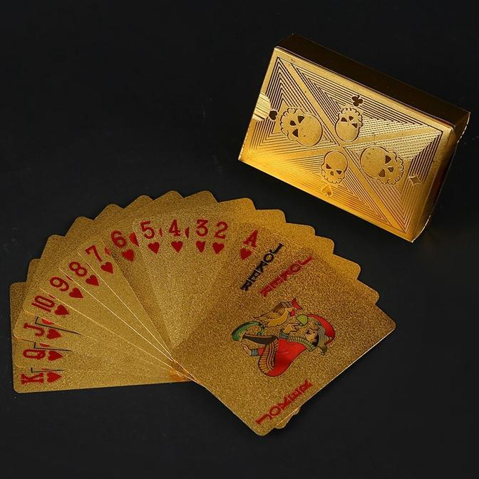 Luxury 24K Gold Foil Poker Playing