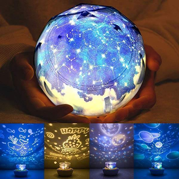 Fantasy Dazzle Color Rotating Projection Lamp