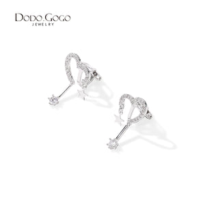 Movable earring female net red temperament super fairy love star earring - umchos