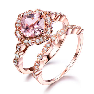 UMCHO Wedding Engagement Ring Set - umchos