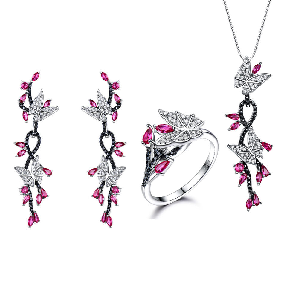 UMCHO 925 Sterling Silver Butterfly Jewelry Set - umchos