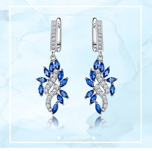 UMCHO Blue Sapphire Drop Earrings - umchos