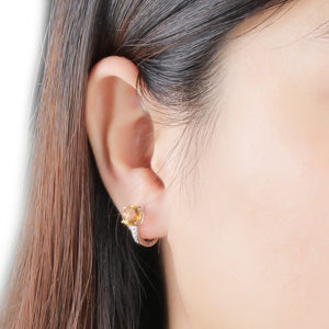 UMCHO 2.0ct Natural Citrine Clip Earrings - umchos