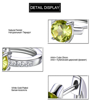 UMCHO 2.0ct Natural Peridot Clip Earrings - umchos