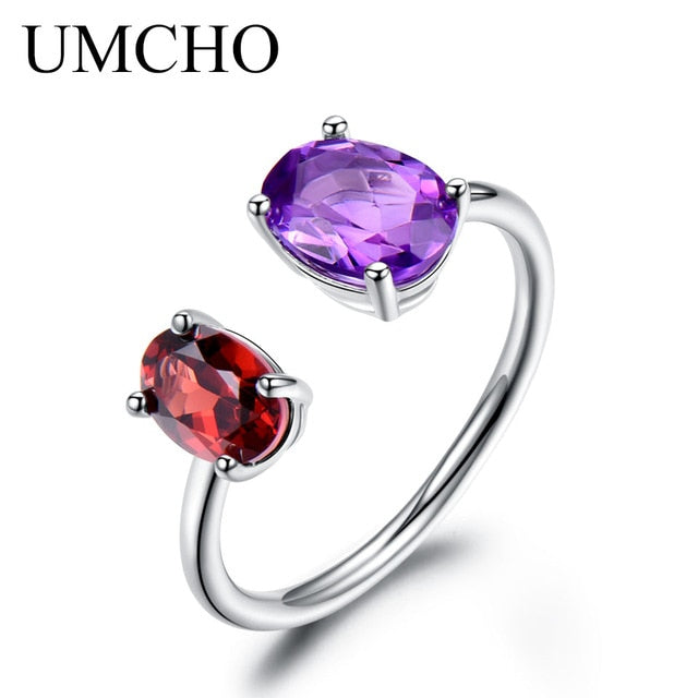 10.7ct Natural Amethyst Garnet Ring - umchos