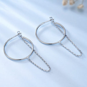UMCHO Real 925 Sterling Silver Long Earrings - umchos