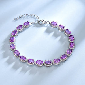 UMCHO 13.5ct Luxury Natural Amethyst Women Bracelet - umchos