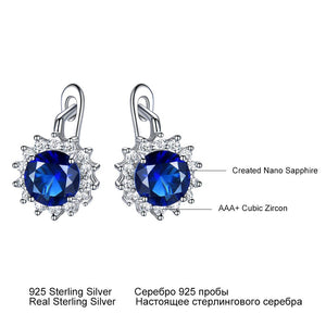 UMCHO Simulated Vintage  Blue Sapphire Clip Earrings - umchos