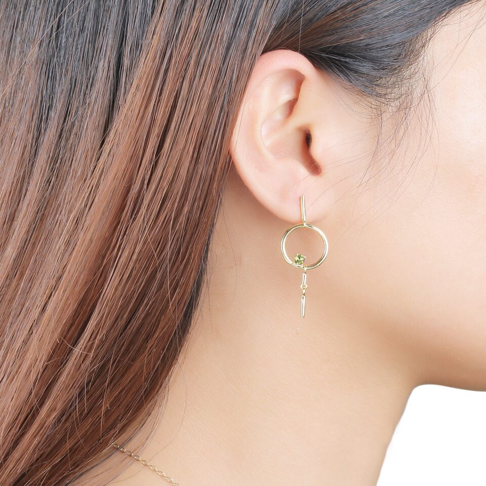 UMCHO Natural Peridot Dangles Drop Earrings - umchos