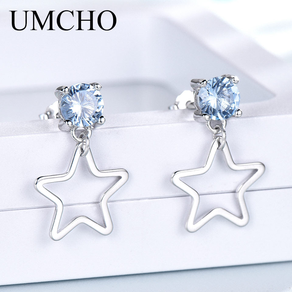 UMCHO Real 925 Sterling Silver Drop Earrings - umchos