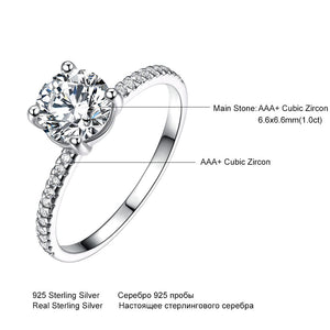 UMCHO 925 Silver Sterling Bridal Cubic Zircon Ring - umchos