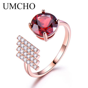 UMCHO Natural Amethyst Gemstone Ring - umchos
