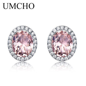 UMCHO Blue Topaz Stud Earrings - umchos