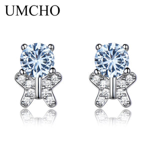 UMCHO Solid 925 Sterling Silver Stud Earrings - umchos
