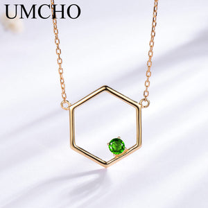 UMCHO Natural Diopside Gemstone Necklace - umchos