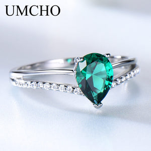 UMCHO Green Emerald Gemstone Rings - umchos