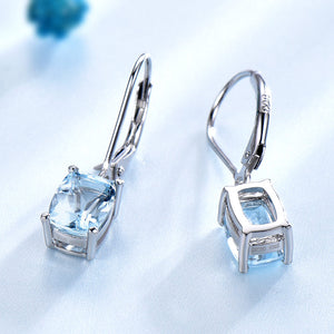 UMCHO Blue Topaz Gemstone Drop Earrings - umchos