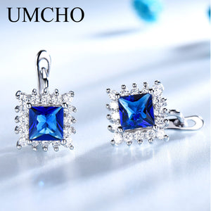 UMCHO Simulated Blue Sapphire Clip Earrings - umchos