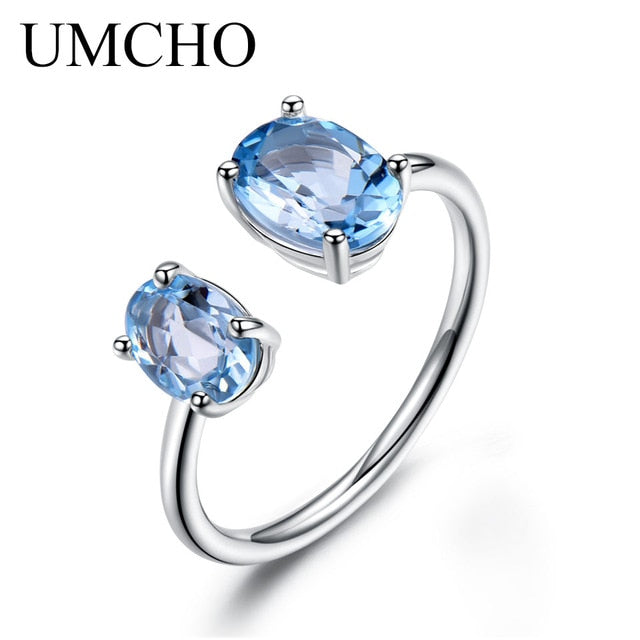 UMCHO 2.5ct Natural Red Garnet Ring - umchos
