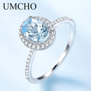 UMCHO 925 Sterling Silver Moraganite Ring - umchos