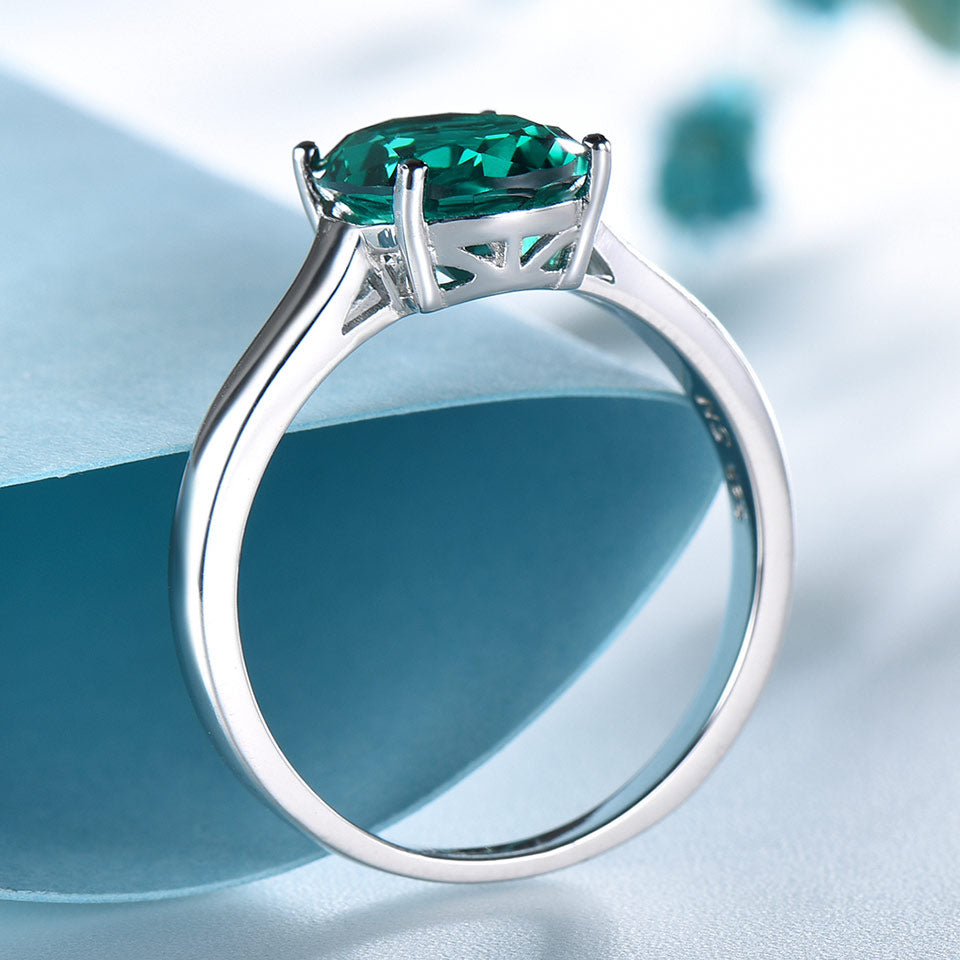 UMCHO Luxury Nano Emerald Engagement Jewelry Ring - umchos