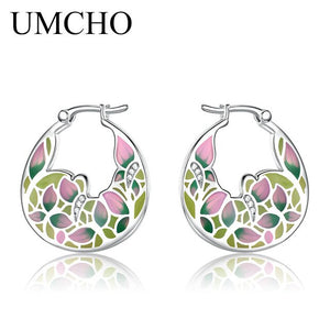 UMCHO Handmade Enamel Clip Earrings - umchos