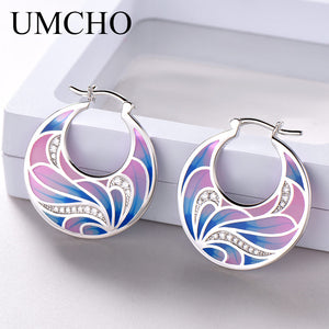 UMCHO Handmade Enamel Flower Clip Earrings - umchos