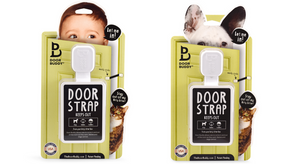 Unique door latch for baby or pet proofing homes