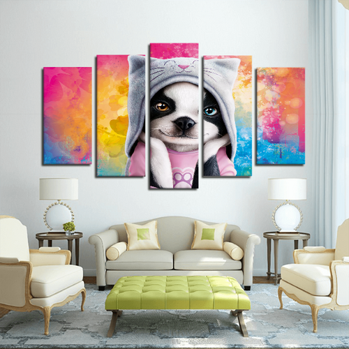 5 Panels Canvas Prints Wall Art for Wall Decorations DOG