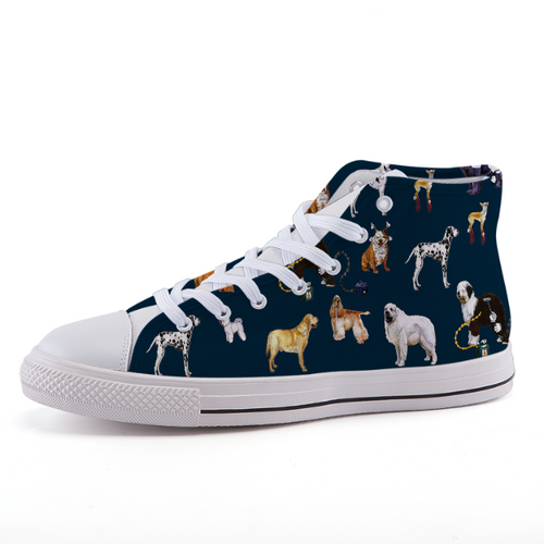High-top fashion canvas shoes - DOGS