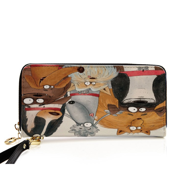 Men and Women's PU Leather Wallet around Long Clutch Purse