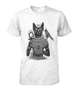 Cats of the pyramids Unisex Cotton Tee