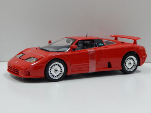 1-18-Bburago-Bugatti-EB-110-039-91-blue-red-or-silver-MIB miniature 5