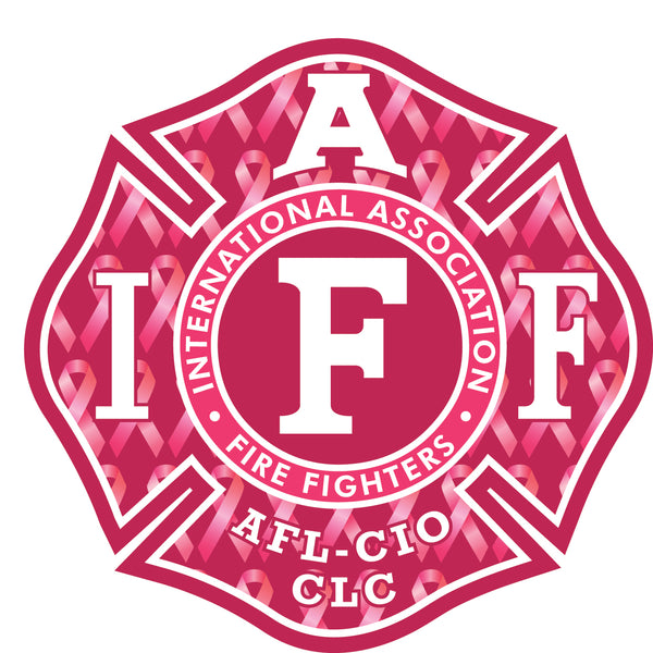 "IAFF 4"" DECAL - Breast Cancer Awareness"