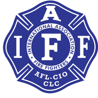 "IAFF 4"" DECAL - Blue/White"
